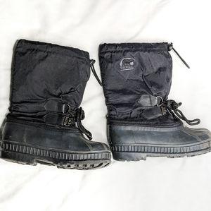 Sorel Youth 2 Flurry Snow Boots Black/Grey